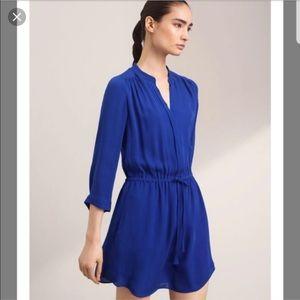 Babaton 100% silk blue Bennett dress